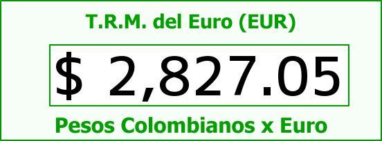 T.R.M. del Euro para hoy Martes 24 de Febrero de 2015