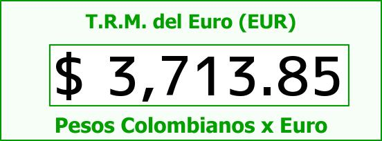 T.R.M. del Euro para hoy Martes 25 de Agosto de 2015