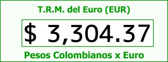 T.R.M. del Euro para hoy Martes 26 de Abril de 2016