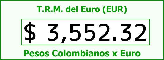 T.R.M. del Euro para hoy Martes 26 de Enero de 2016