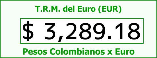 T.R.M. del Euro para hoy Martes 26 de Julio de 2016