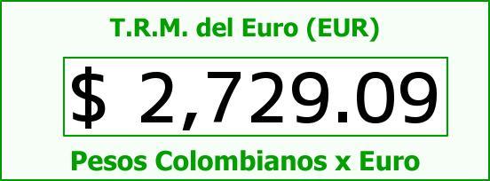 T.R.M. del Euro para hoy Martes 26 de Mayo de 2015