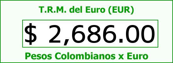 T.R.M. del Euro para hoy Martes 27 de Enero de 2015