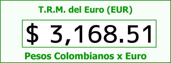 T.R.M. del Euro para hoy Martes 28 de Julio de 2015