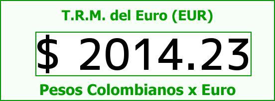 T.R.M. del Euro para hoy Martes 28 de Octubre de 2014