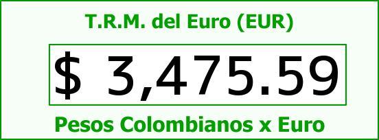 T.R.M. del Euro para hoy Martes 29 de Diciembre de 2015