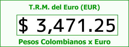 T.R.M. del Euro para hoy Martes 29 de Septiembre de 2015