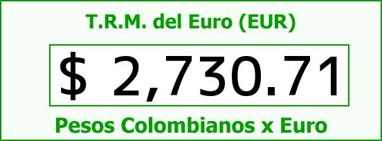 T.R.M. del Euro para hoy Martes 3 de Febrero de 2015