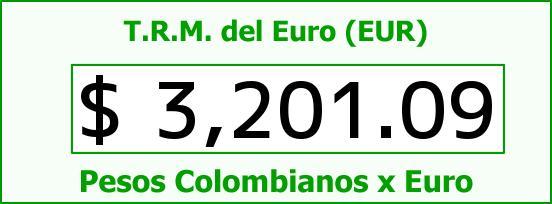 T.R.M. del Euro para hoy Martes 3 de Noviembre de 2015