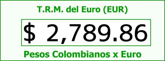 T.R.M. del Euro para hoy Martes 31 de Marzo de 2015