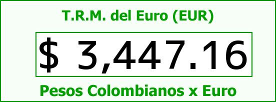T.R.M. del Euro para hoy Martes 5 de Abril de 2016