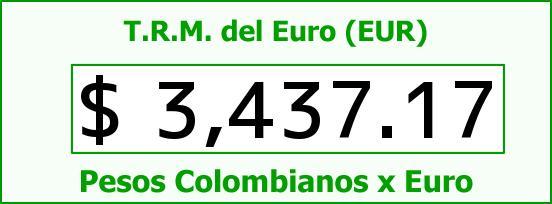 T.R.M. del Euro para hoy Martes 5 de Enero de 2016