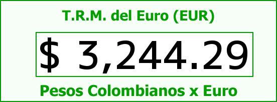 T.R.M. del Euro para hoy Martes 5 de Julio de 2016