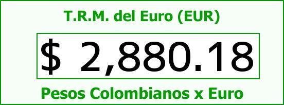 T.R.M. del Euro para hoy Martes 6 de Enero de 2015