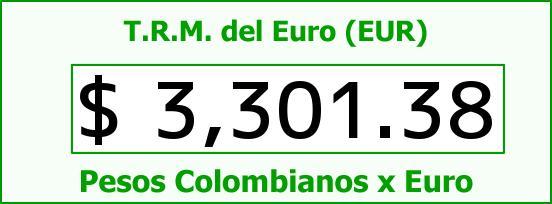 T.R.M. del Euro para hoy Martes 6 de Septiembre de 2016