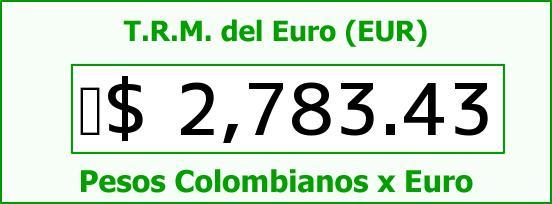 T.R.M. del Euro para hoy Martes 7 de Abril de 2015