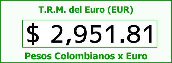 T.R.M. del Euro para hoy Martes 7 de Julio de 2015