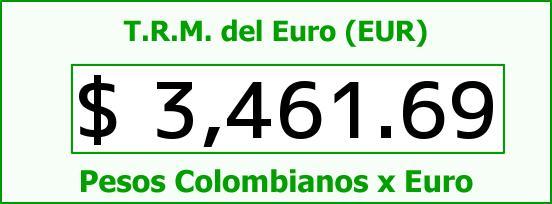 T.R.M. del Euro para hoy Martes 8 de Diciembre de 2015