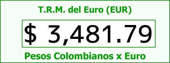 T.R.M. del Euro para hoy Martes 8 de Marzo de 2016