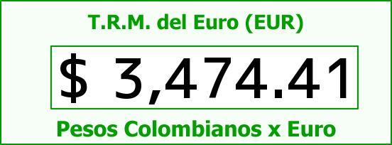 T.R.M. del Euro para hoy Martes 8 de Septiembre de 2015