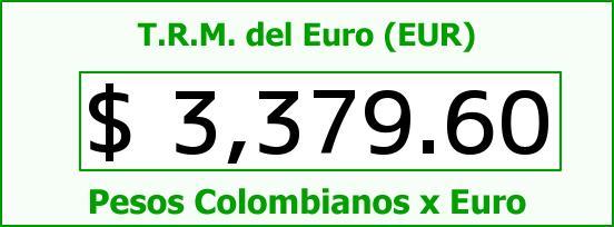 T.R.M. del Euro para hoy Martes 9 de Agosto de 2016