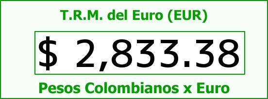 T.R.M. del Euro para hoy Martes 9 de Diciembre de 2014