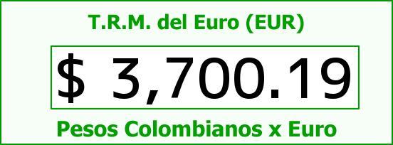 T.R.M. del Euro para hoy Martes 9 de Febrero de 2016
