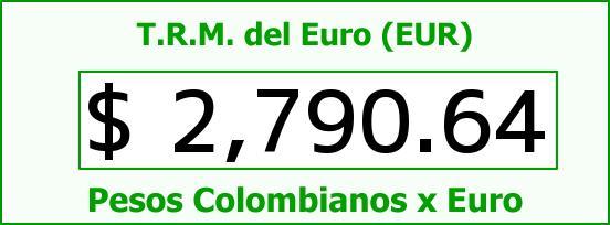 T.R.M. del Euro para hoy Miércoles 1 de Abril de 2015