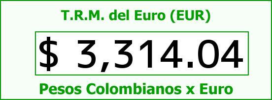 T.R.M. del Euro para hoy Miércoles 10 de Agosto de 2016