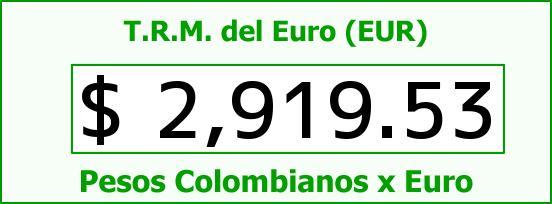T.R.M. del Euro para hoy Miércoles 10 de Diciembre de 2014