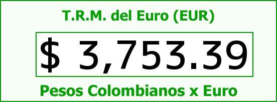 T.R.M. del Euro para hoy Miércoles 10 de Febrero de 2016
