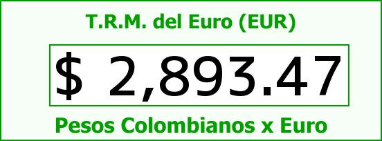 T.R.M. del Euro para hoy Miércoles 10 de Junio de 2015