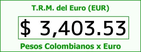 T.R.M. del Euro para hoy Miércoles 11 de Mayo de 2016
