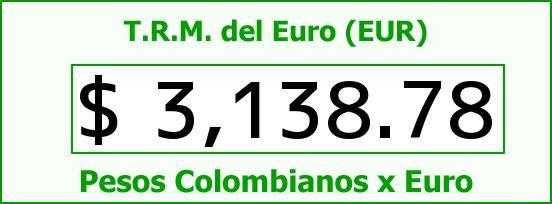 T.R.M. del Euro para hoy Miércoles 11 de Noviembre de 2015