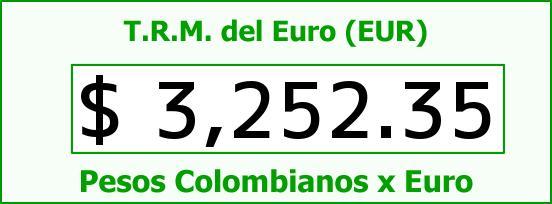 T.R.M. del Euro para hoy Miércoles 12 de Agosto de 2015