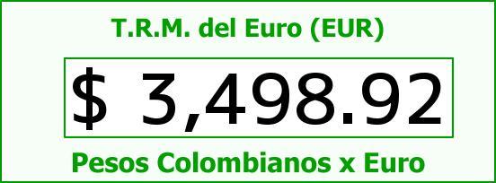T.R.M. del Euro para hoy Miércoles 13 de Abril de 2016