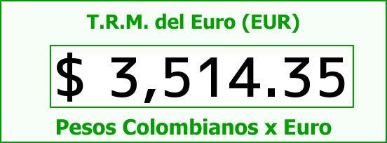 T.R.M. del Euro para hoy Miércoles 13 de Enero de 2016