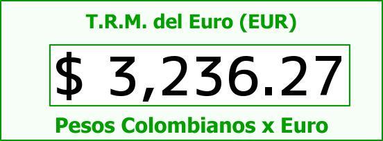 T.R.M. del Euro para hoy Miércoles 13 de Julio de 2016