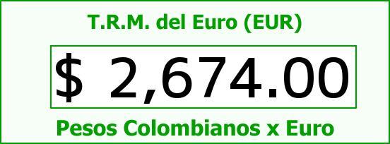 T.R.M. del Euro para hoy Miércoles 13 de Mayo de 2015