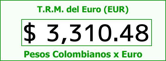 T.R.M. del Euro para hoy Miércoles 14 de Octubre de 2015