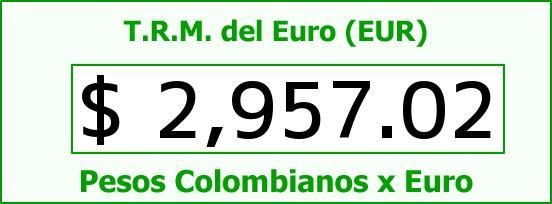 T.R.M. del Euro para hoy Miércoles 15 de Julio de 2015