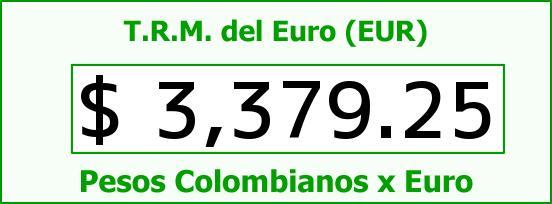 T.R.M. del Euro para hoy Miércoles 15 de Junio de 2016