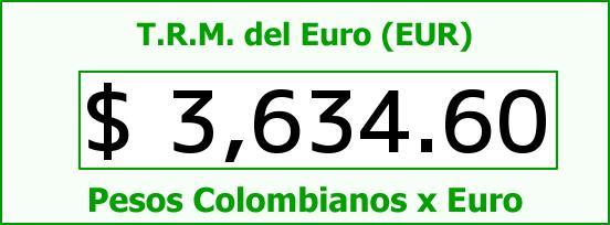 T.R.M. del Euro para hoy Miércoles 16 de Diciembre de 2015