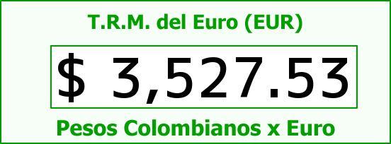 T.R.M. del Euro para hoy Miércoles 16 de Marzo de 2016