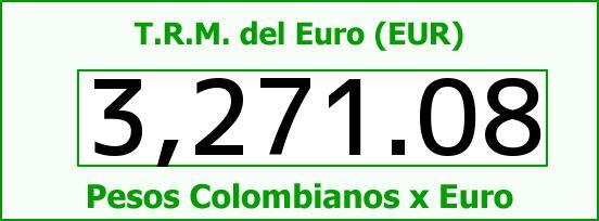 T.R.M. del Euro para hoy Miércoles 17 de Agosto de 2016