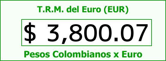 T.R.M. del Euro para hoy Miércoles 17 de Febrero de 2016