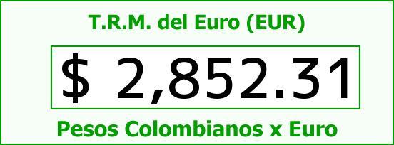 T.R.M. del Euro para hoy Miércoles 17 de Junio de 2015