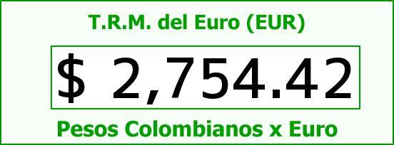 T.R.M. del Euro para hoy Miércoles 18 de Febrero de 2015