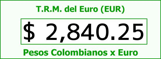 T.R.M. del Euro para hoy Miércoles 18 de Marzo de 2015