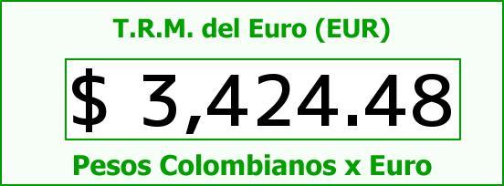 T.R.M. del Euro para hoy Miércoles 18 de Mayo de 2016